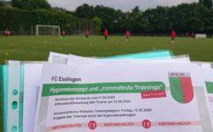 Trainingsbetrieb hat wieder begonnen.