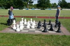 Training auf dem Großschachfeld