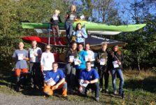 Rennpaddler auf dem Rhein – ohne Rennen