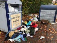 Containerstandort ist keine Mülldeponie!