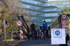 Fuß- und Radverkehr trennen auf Pulverwiesenbrücke