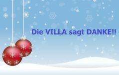 Die VILLA wünscht frohe Festtage und Gesundheit!