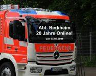 Feuerwehr in Esslingen-Berkheim 20 Jahre online!