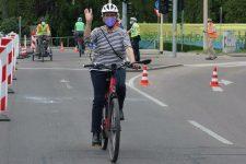 Erfolgreiche Pop-Up-Bike-Lane an der Maille