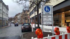 Gutes Miteinander von Fuß und Rad in Fußgängerzone