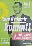 Bundestagswahl am 26.9.: Cem Özdemir in Esslingen