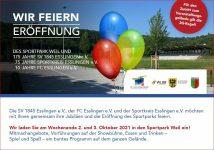 02. und 03. Oktober 2021 Eröffnung Sportpark Weil